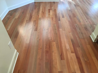 Pacific Madrone Wood Flooring Installation  St Augustine