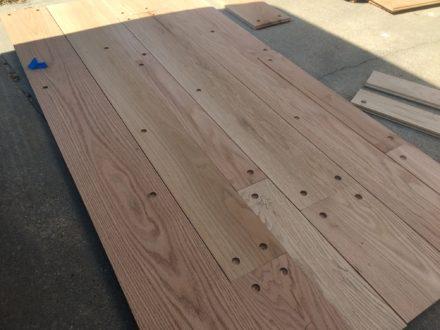 Red Oak Plank Flooring with Walnut Pegs  St Augustine