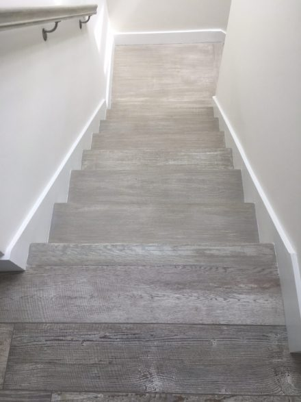 refinishing stair treads to mimic wood