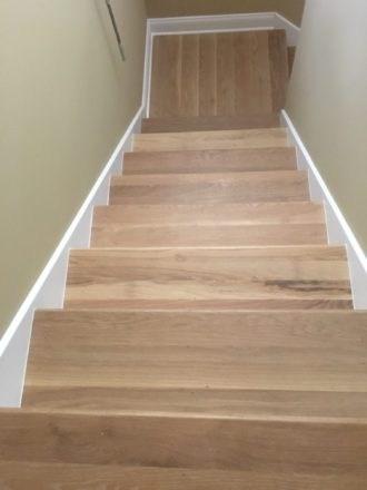 Wire Brushed White Oak Flooring And Staircase Marshview | Engineered Oak Stair Treads | Stair Nosing | Wood | Modern Retro | Laminate Flooring | Stair Parts