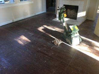 Sanding Pine Floors