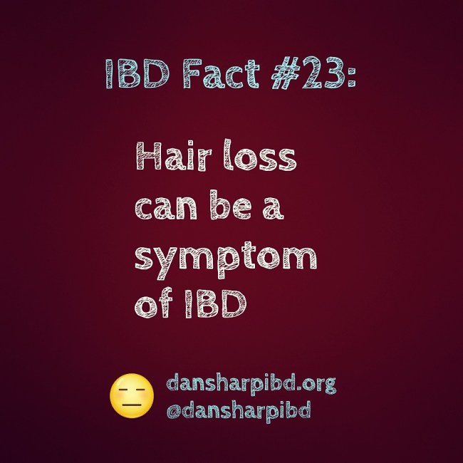Hair loss can be a symptom of IBD