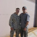 Welcoming my brother, Dave, home from his first tour in Iraq, 2007.
