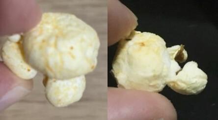 マイクポップコーン 八幡屋礒五郎七味あじ新旧商品比較