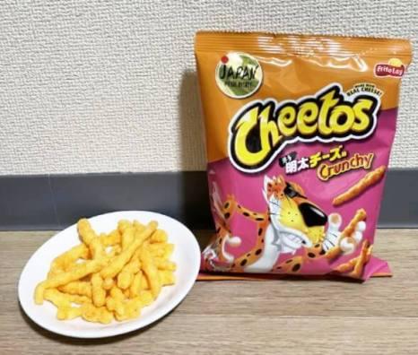 チートス 博多明太チーズ味のパッケージと実際の商品