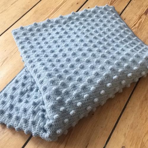 opskrift hæklet tæppe