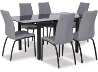Liffey Extension Dining Table & Asama Chairs x 6