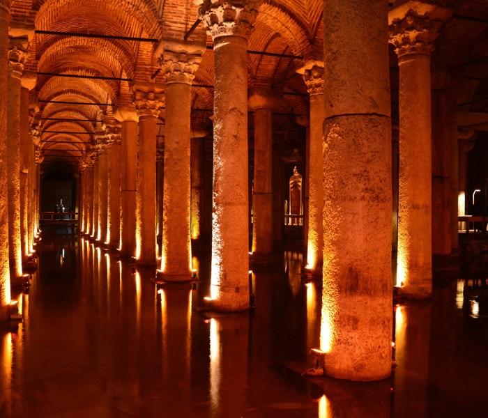 Basilika cisternen i Istanbul – det sunkne palads