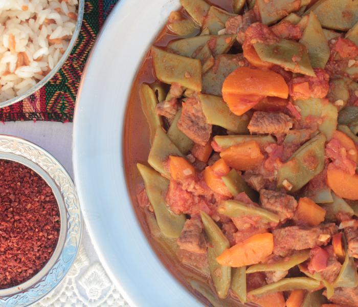 Taze fasulye opskrift – Tyrkisk bønneret