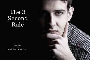 The 3 Second Rule dan skognes motivation blogger speaker teacher trainer coach educator
