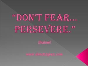 Dont Fear Persevere dan skognes motivation blogger speaker teacher trainer coach educator