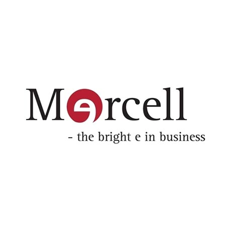 mercell the bright e in business logo