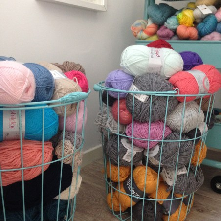 Paniers Action pour ranger les pelotes de laine
