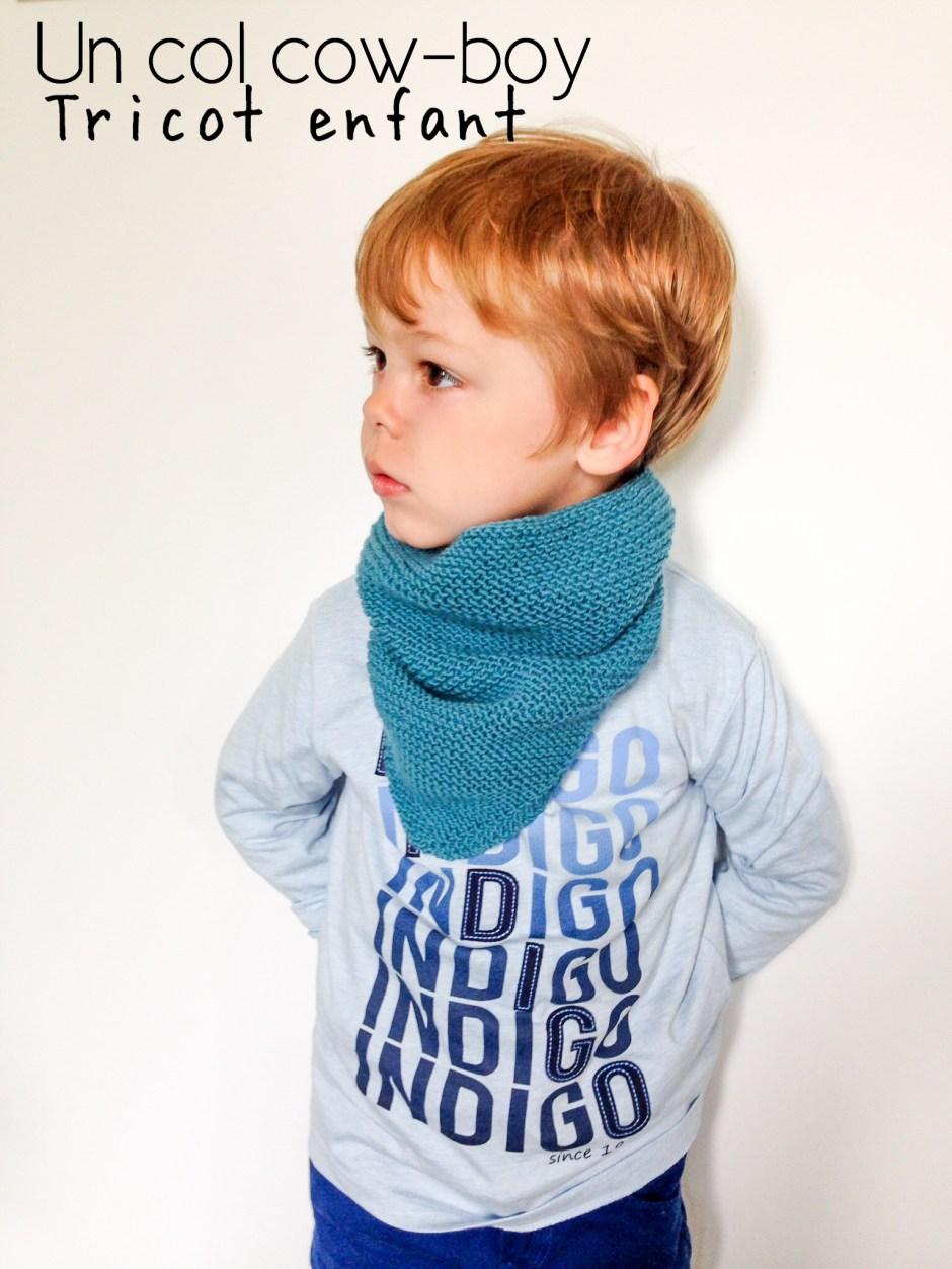 Tuto tricot   trendy châle version snood ou « col cowboy » pour enfant – Le  blog de Caro Tricote ebba33cb3f5