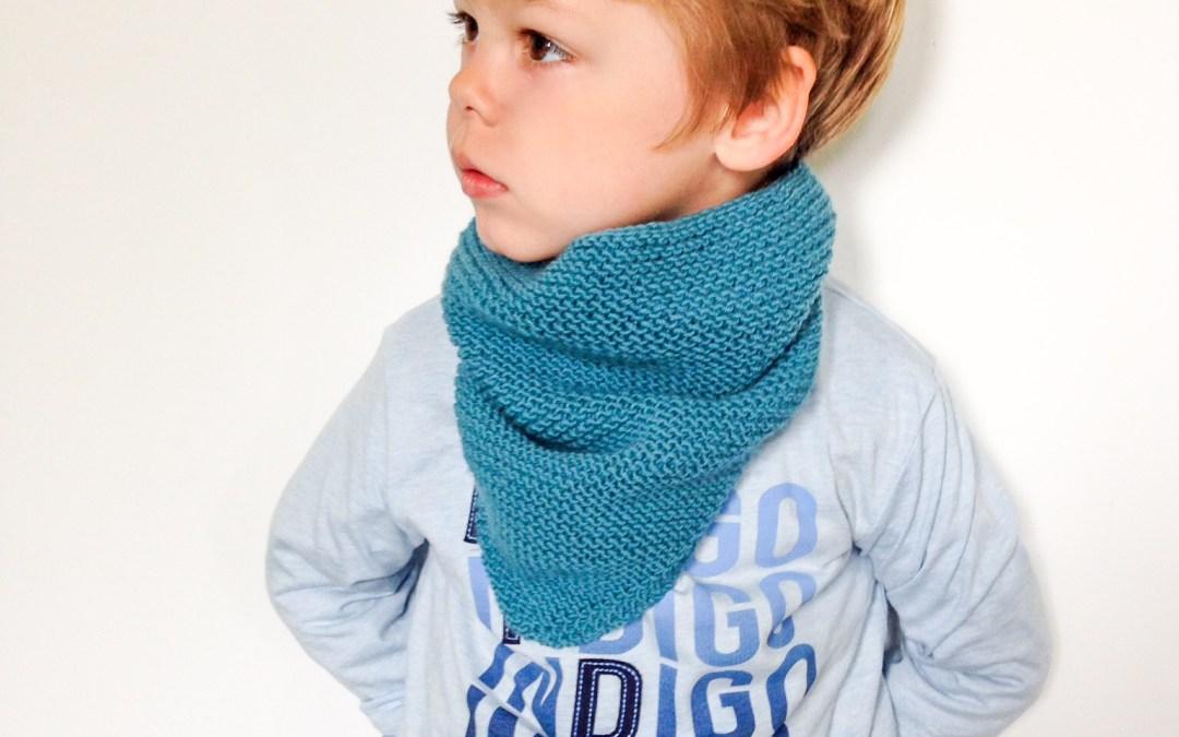 Tuto tricot : trendy châle version snood ou «col cowboy» pour enfant