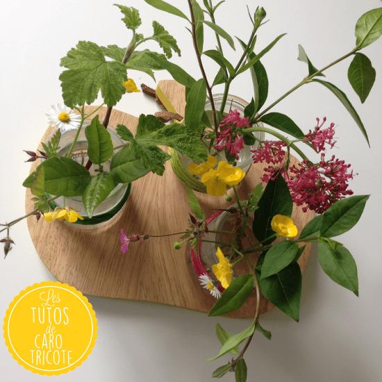 Pots de fleurs et fil de chanvre