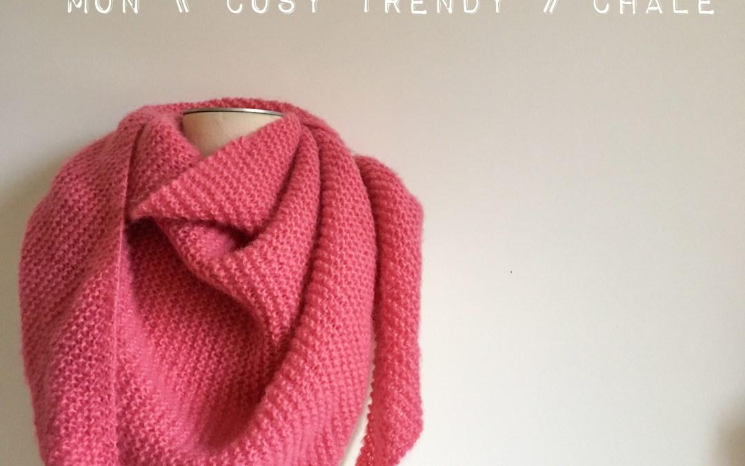 Tuto tricot : un cosy trendy qui monte vite vite vite – Châle