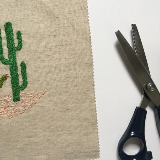 Réaliser une broderie décorative - Les cactus