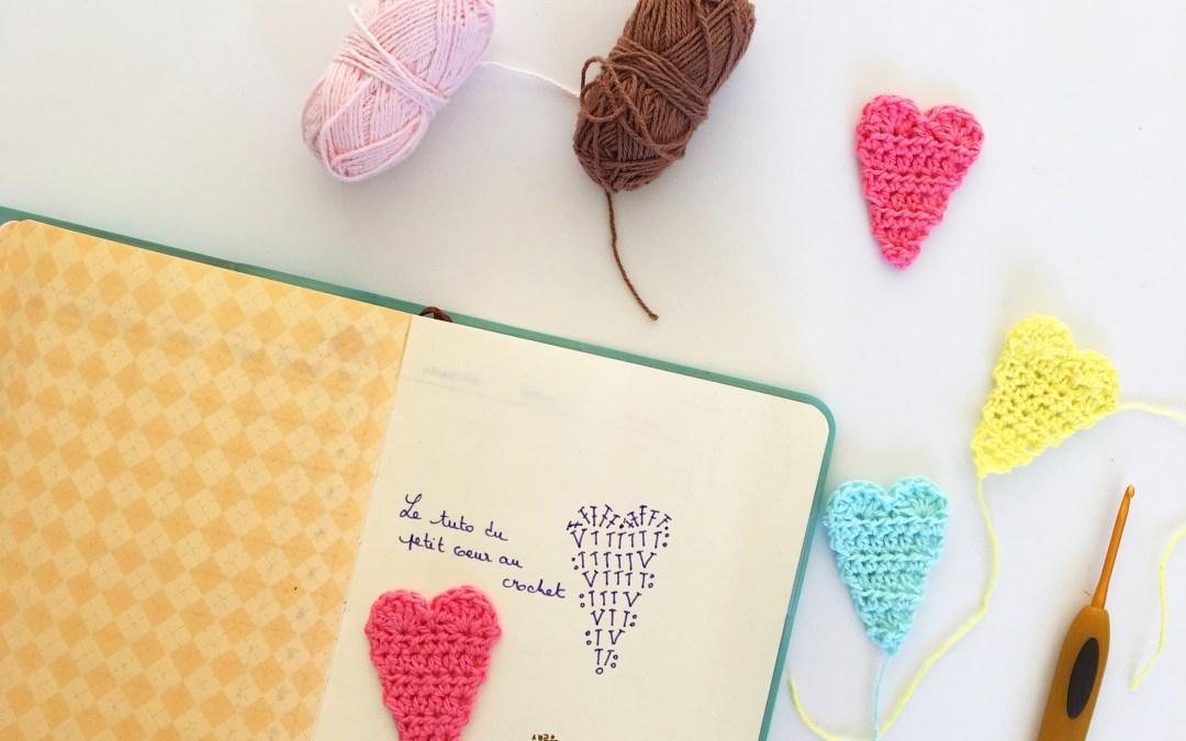 Lire un diagramme au crochet : s'entraîner et réaliser un (tout petit) coeur (TUTO)