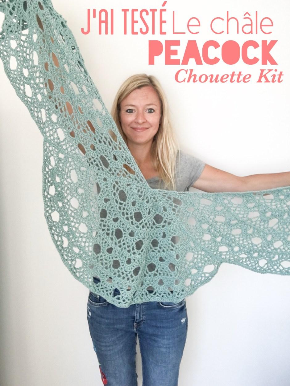 Châle Peacock Chouette Kit - Crochet