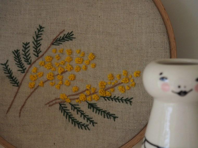 Broderie - Les mimosas - Patron gratuit