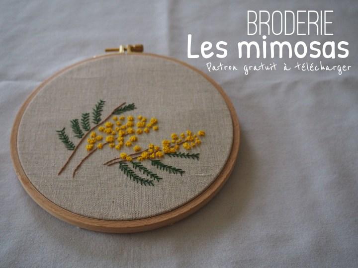 Broderie – Les mimosas – Patron gratuit