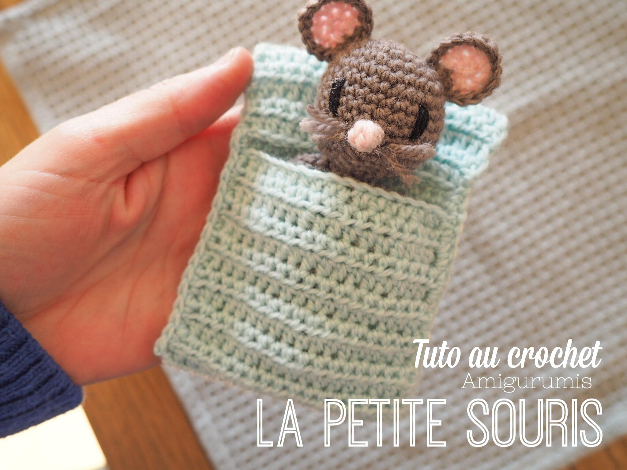 Handmade Crochet Souris une petite Idée cadeau. forte Aimant
