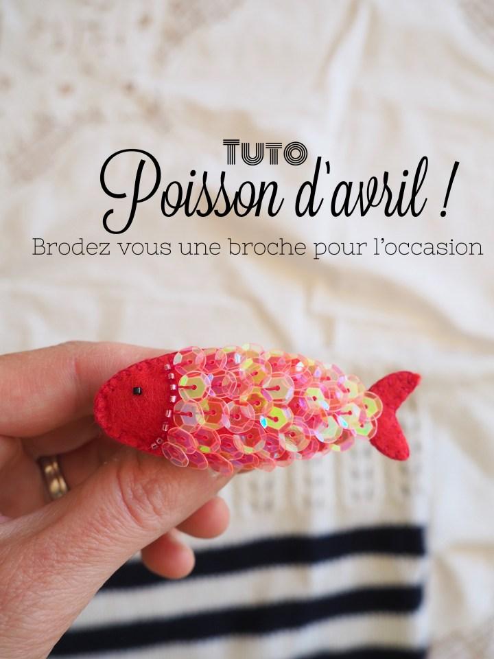 Faites votre broche en forme de petit poisson – Pour le 1er avril