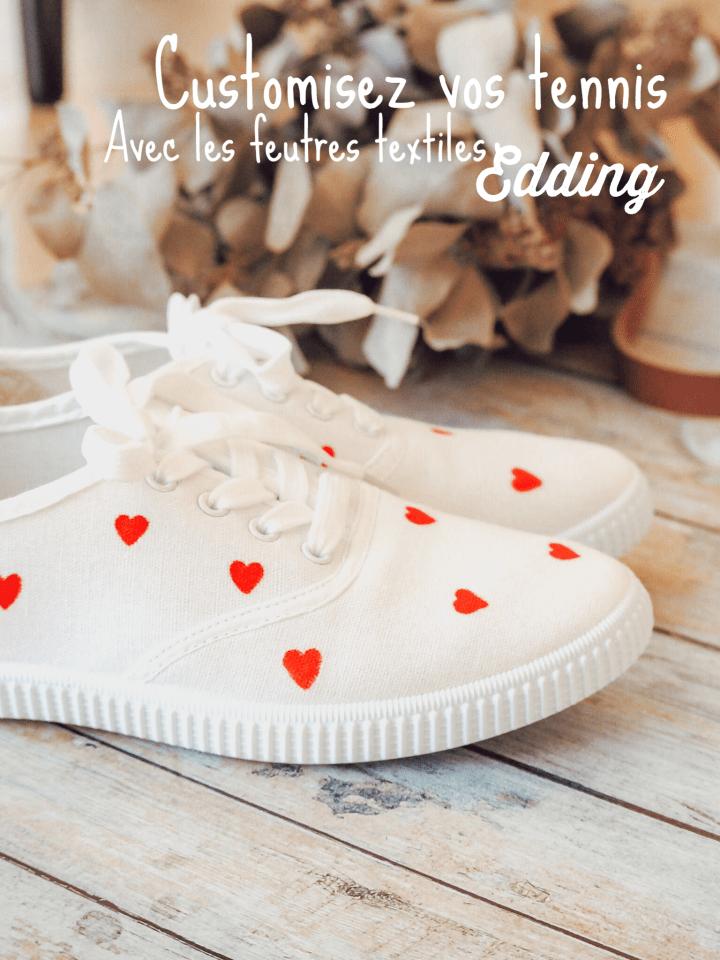 Tuto : Pimpez votre paire de tennis avec des feutres textiles de la marque Edding