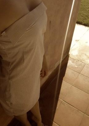 robe chemise blanche lignée