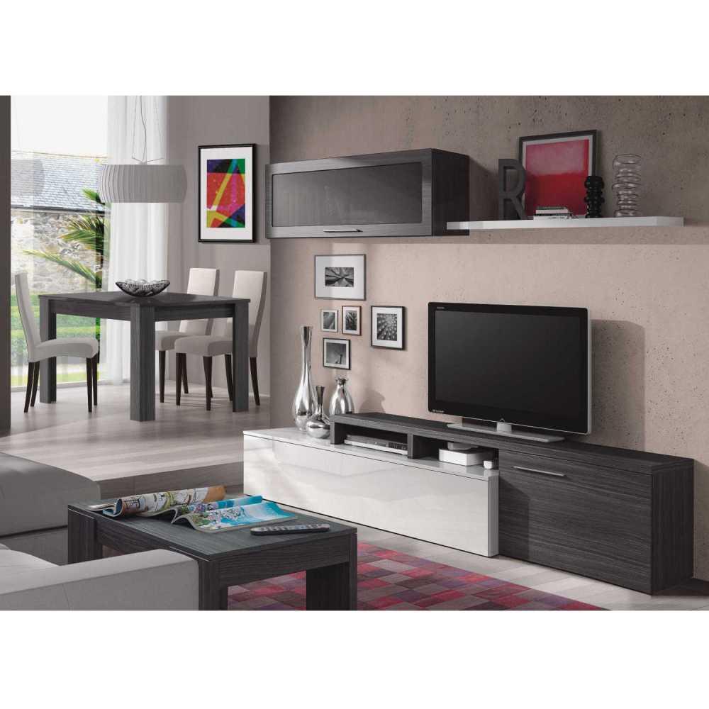 Nexus meuble tv blanc et gris dansmamaison maroc