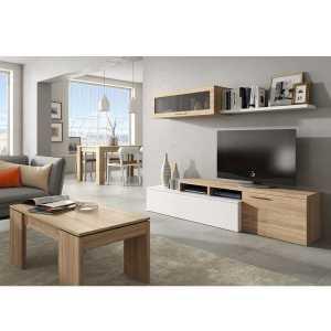 Nexus meuble tv blanc et chêne dansmamaison maroc
