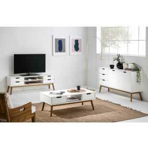 Baku meuble tv blanc