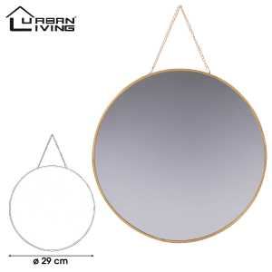 gold home miroir rond