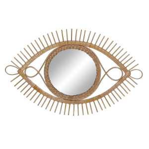 Miroir Œil en rotin naturel 71x2x45 cm