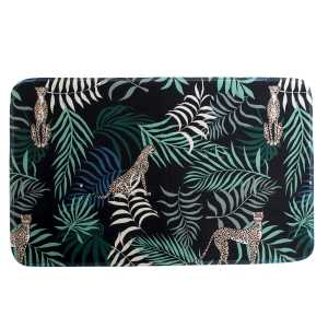Tapis Jungle noir en Polyester 80×50 cm