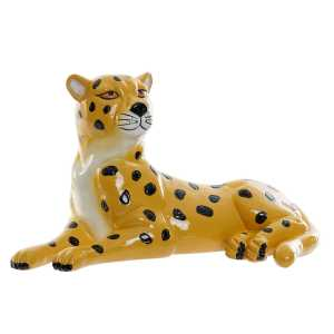 FIGURE résine 26x13x14 léopard jaune