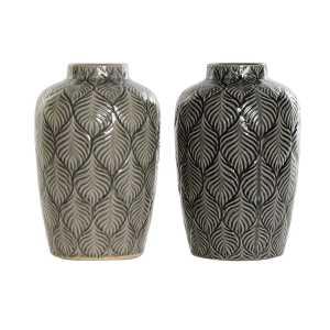 VASE en porcelaine 16x16x26 – Gris ou noir