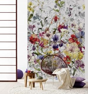 Flora Papier peint photo murale intissé | dansmamaison.ma maroc