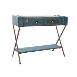 CONSOLE bleu en bois 101x42x82