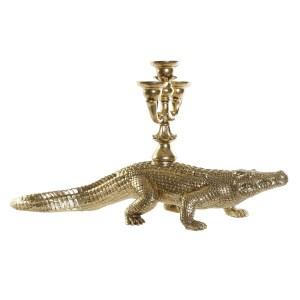 Crocodile Candélabre figure en résine 69x20x35