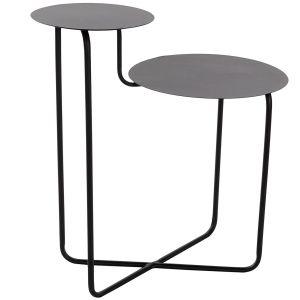 TABLE AUXILIAIRE noir en métal 57X35X60