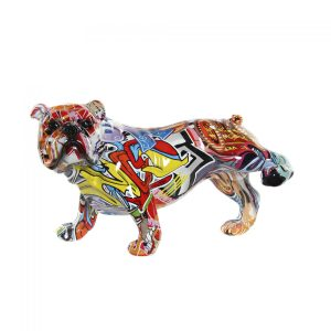 Graffiti Dog Figure résine 26,5X14,5X16
