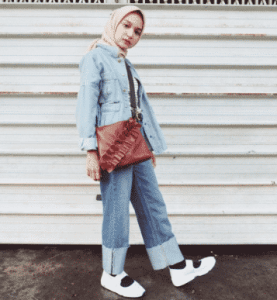 hijab jaket denims