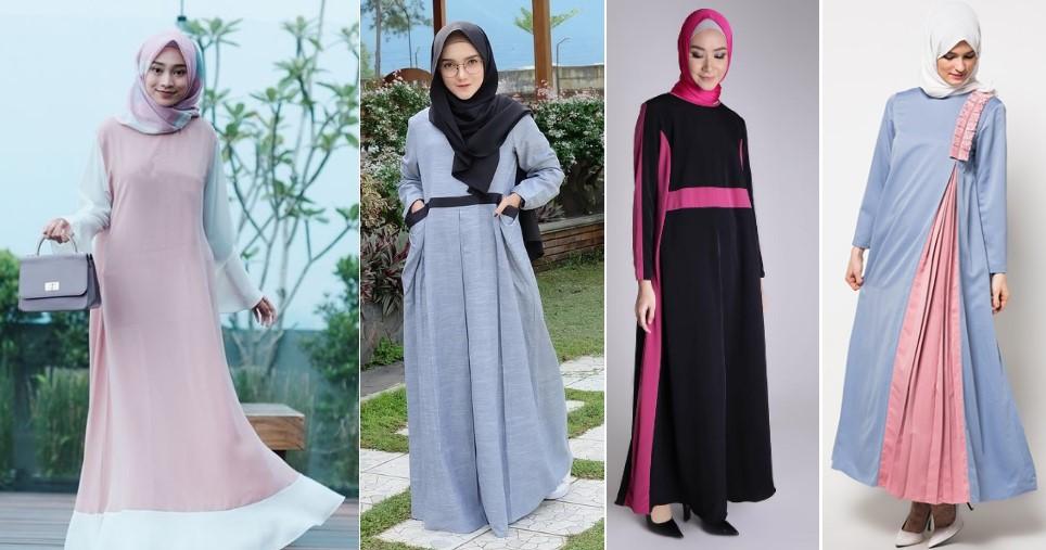 Inspirasi Model Gamis Dua Warna Yang Cantik dan Mengesankan - Dans ...