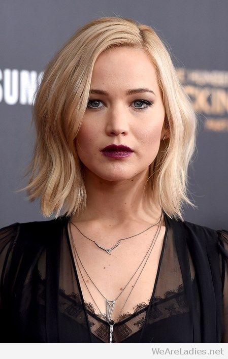 Model rambut bob artis Jenifer Lawrence
