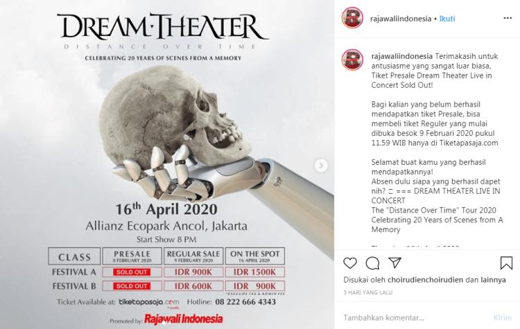 Gambar Harga tiket konser Dream Theater