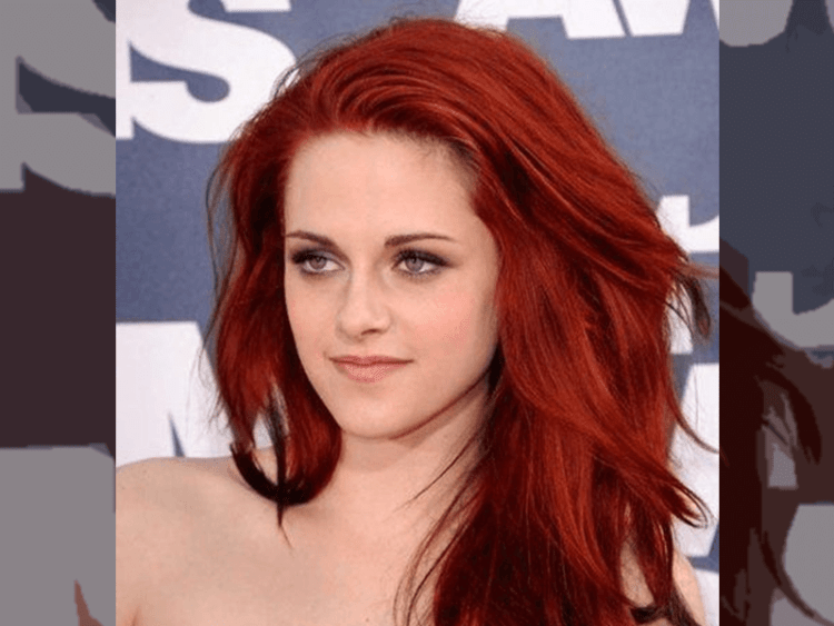 Gambar 1 Warna rambut pirang (blonde) merah strawberry kristen stewart via pinterest @Matutine