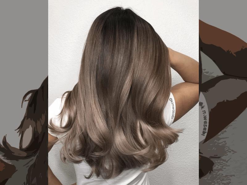 Warna rambut coklat ash