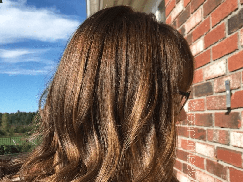 warna rambut mocha light brown